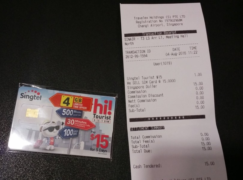 hi!Tourist SIMカード $15